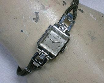 Blancpain Ladies Watch. 14K WG & Diamond Case, 1940s. Art Deco to Modern. Works!