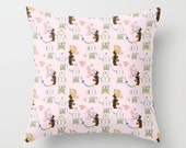 Indoor Decorative Throw Pillow Cover, Easter Bunny Factory