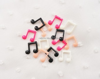 8pcs ((LAST)) Small Musical Notes Mix Decoden Cabochon (12mm) MS10012