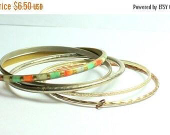 MOVING SALE Half Off Destash Lot of Vintage and Salvaged  Mixed Metal Bangle  Bracelets For Assemblage or Wear