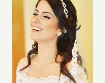 ON SALE Bridal Headband, Bridal Head Piece, Bridal, Elsie, Rhinestone Headband, Wedding Headband, Bridal Hair Piece, Bridal Headpiece, Rhine