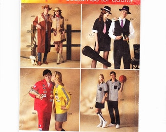 Simplicity 2797 Adult Costumes,Gangster, Cowboy, Cowgirl, Referee, NascarDriver Uncut Pattern
