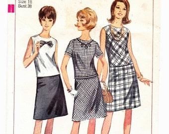 Simplicity 6340 Vintage Two-Piece A-Line Dress Sz 16 Uncut Pattern- 3