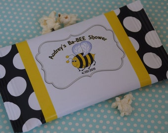 Ba-Bee popcorn Shower favors, what will it Bee Baby Shower gifts, gender reveal, Personalized custom, Bumble Bee Shower favors. Set of 24