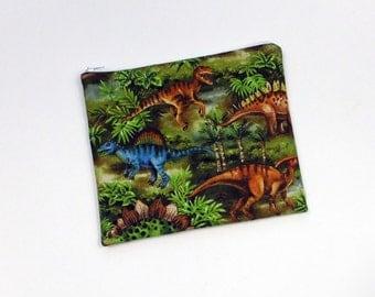 Dinosaur Zipper Pouch Reusable Snack Bag