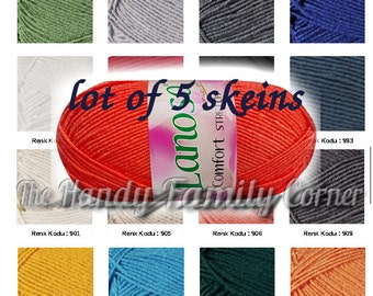 Wholesale Bikini yarn swimwear Lanoso Comfort Stretch elastic springy stretchy yarn, lot of 5 skeins. Swimwear yarn, hypoallergenic, DSH(H)