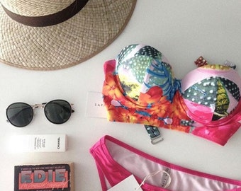 Swimsuit bikini swimwear resort beachwear tropical