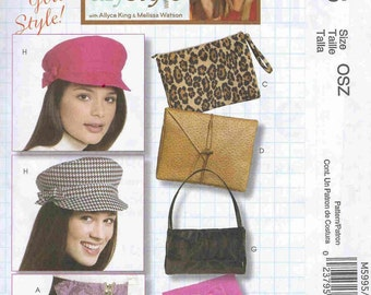 McCall's Pattern M5995 Hats, Clutches, Purses and Belts One Size NEW