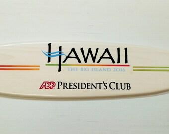 Custom Corporate Surfboard Wall Hanger Award Plaque Trophy Recognition Retirement