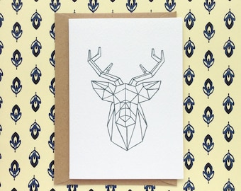 ORIGAMI STAG | greetings card