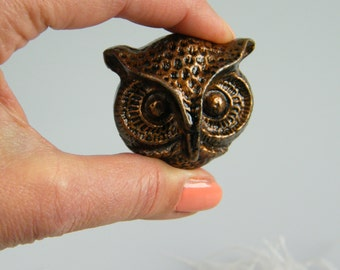 Owl Head Cabinet Drawer Pull Knob / Owl / Nursery Decor /  Rustic Metal / Unique / Furniture Supply Pull / Choose Your Color