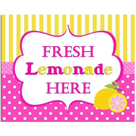 Juicy image within lemonade signs printable