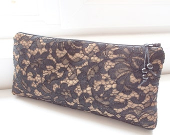Black Lace Wedding Clutch Gift for Mother of Bride Groom Special Event Evening Purse