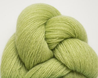 Pistachio Cream Lace Weight Recycled Cashmere, 3085 Yards Available
