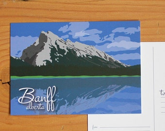 Banff Alberta Postcard Canmore, Lake Louise, Moraine Lake, Emerald Lake, Canadian Rockies
