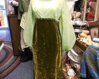 Green Velvet Sylvia Ann Gown