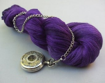 Sure is Silky Cobweb Lace. Violet with Violence