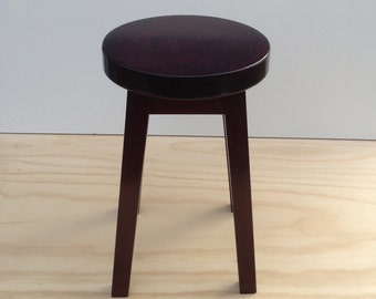 solid wood stool made from Cherry