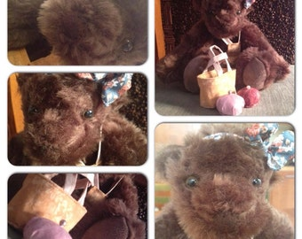 artist Teddy bear - called 'Fruzsina' / come and love - free shipping