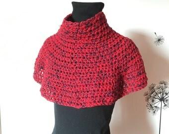 Crochet Cover Up / Crochet Neck Warmer / Crochet Cowl / Cowl Scarf / Knit Cowl / Infinity Crochet Scarf