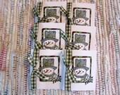 Enclosure Card  Snowman  Set of 6
