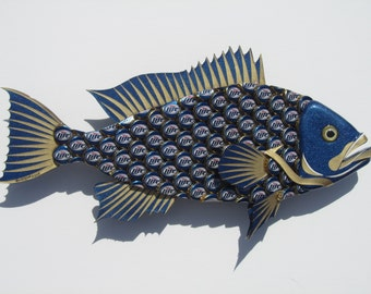Miller Light Bottlecap Fish Metal Grouper Fish Wall Art