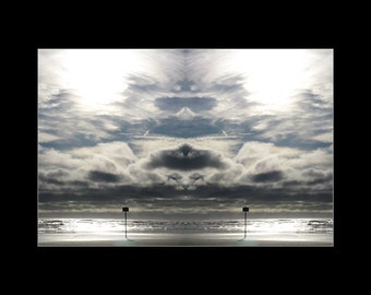Mirror 085 16x12 mat print_abstract photography archival giclee_ocean cloud cat seascape Jeff_Loree Harrell The Mirror Project_Ready to ship