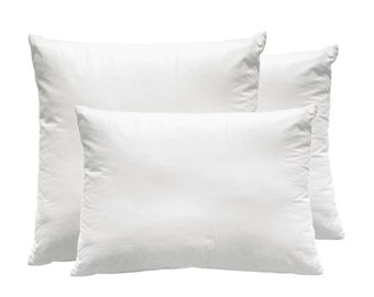 "Pillow insert  Feather cushion or classic polyester cushion 16"" 18"" 20"" White cotton inner cushion"
