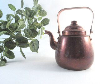 Vintage Teapot OPA Finland Copper 1/2 L Rustic Scandinavian Decor