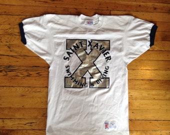 Vintage Saint Xavier Swimming and Diving t shirt USA medium