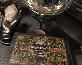 Black Devil Occult Altar Box with All Wicked Old Contents at Gothic Rose Antiques