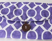 Travel Changing Pad - Diapering on the Go - Purple Design