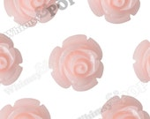 12mm Pale Pink Rose Beads, Flower Beads, Drilled Flowers, 12mm Flower Beads, Resin Flower Beads, Flowers With Holes, 1mm Hole (R9-099)