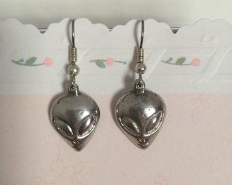 Vintage Dangling Alien Earrings