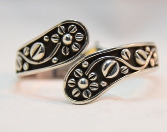 Mexican Vintage Sterling Silver Daisy Flower Clamper
