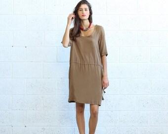Final Summer Sale Raglan Dress- Khaki.