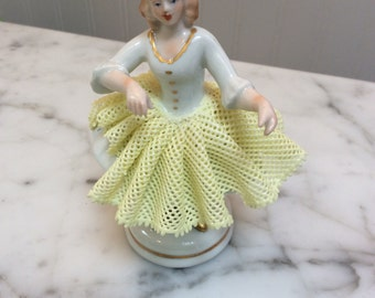 Vintage Ballerina Lace China Skirt