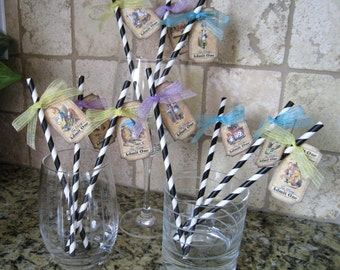 Alice in Wonderland Straws - Set of Ten