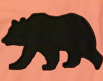 Bear applique machine embroidery Digital Instant Download designs bear silhouette 3 sizes digital download applique