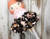 Gracyn ~ SpunCandy Classic Doll, Heirloom Quality Doll, Modern Rag Doll, Nursery Decor, Kids Decor, Fabric Doll, Cloth Doll, Handmade Doll