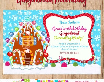 GINGERBREAD HOUSE invitation - You Print