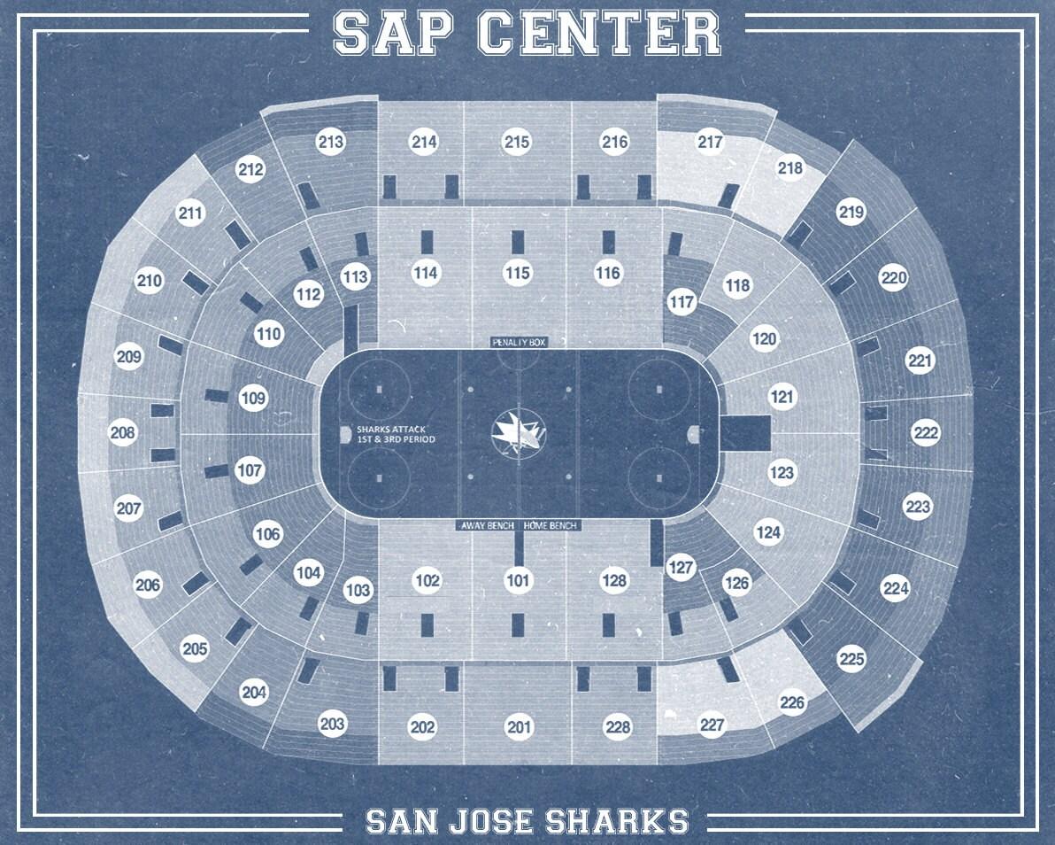 Vintage san jose sharks sap center on photo paper matte for 12x15 calculator