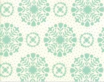 Handmade Aqua Cream Olivia 55141 12 NEW Bonnie and Camille fabric of Moda fabrics