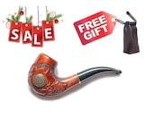Handcarved wood pipe Tobacco pipe Smoking Pipe/Pipes for Pipe Smokers, Wooden pipe/pipes carved pipe SARMAT /BEST PRICE