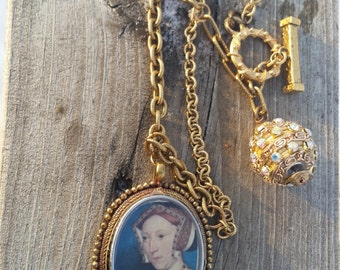 Ann Boelyn Pendant Necklace.Medieval Jewelry.Game of Thrones. Outlander. Etruscan Style pendant. Valentines Day