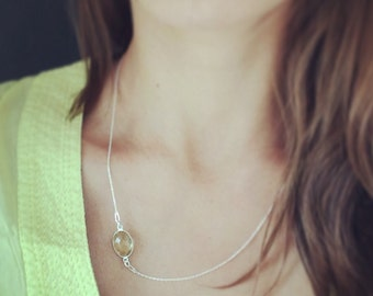 Charm Necklace, Yellow Citrine Necklace, Minimalist Necklace, Minimalist Jewelry, Gift For Her, Citrine Jewelry, Gift For Girlfriend
