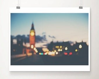 london photograph surreal photograph abstract print big ben photograph london print travel photography night photograph london decor