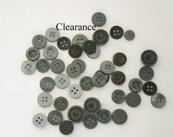 Grey Buttons, Gray Buttons, Small Grey Buttons, Small Gray Buttons,  Grey Small Buttons, Mixed Buttons, Button Assortment, Button Mix
