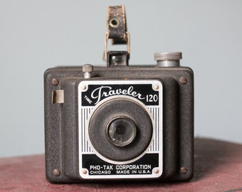 Time Traveler 120 Pho-Tak Corporation Metal Box Camera Made in Chicago