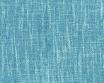 New Multi Dimensional Upholstery Fabric - Melds together texture with the look of linen - Extremely Durable - Color: Turquoise - Per yard